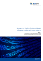 EUIPO - Research on Online Business Models Infringing IP Rights - Phase 1 - Frontcover